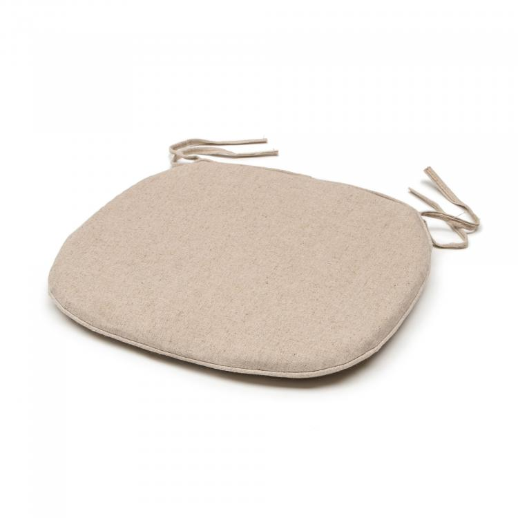 Crossback Cushion - Linen Beige