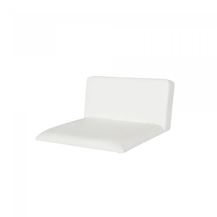Conic Seat with back XL, faux leather White
