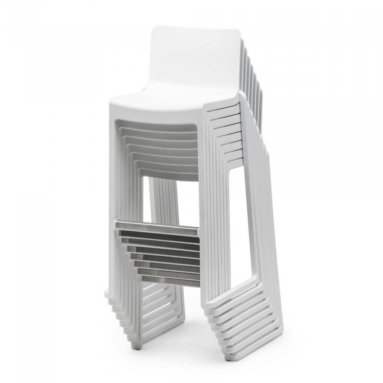 Barstool - Kasar Bar - White - Stacked