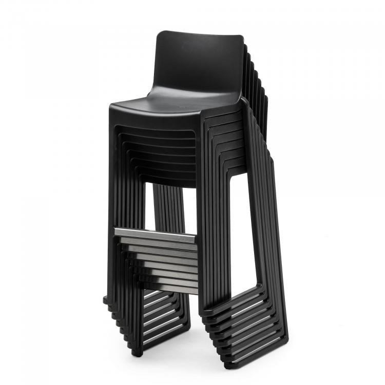 Barstool - Kasar Bar - Black - Stacked