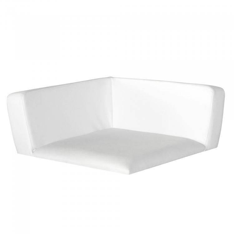 Conic Corner Seat, kunstleder, wit