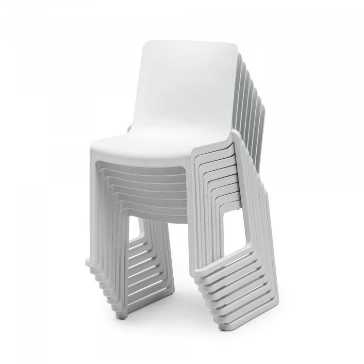 Stack Chair - Kasar Chair White - Stacked