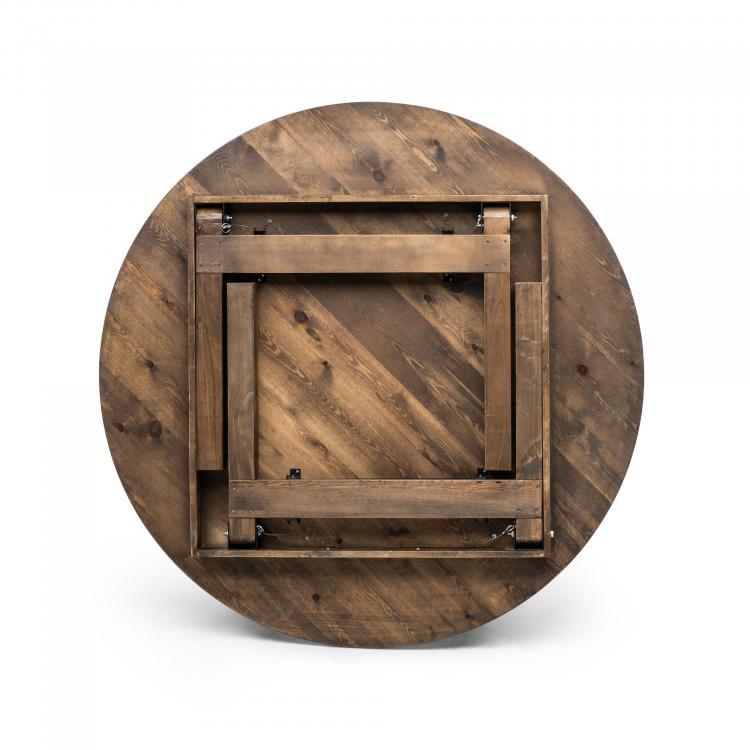 Fermette Table - Round - Bottom - Folded