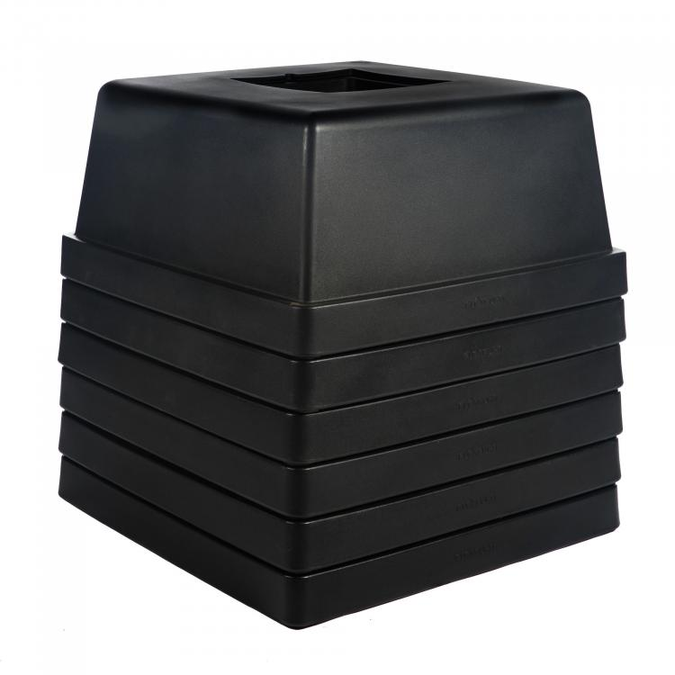 Lounge Table / Ottoman - Laze - Black - Stacked