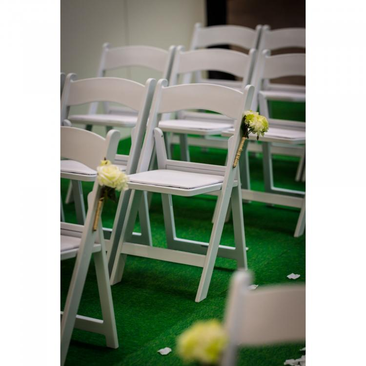 Folding Chair - Wimbledon - White - Wedding setting