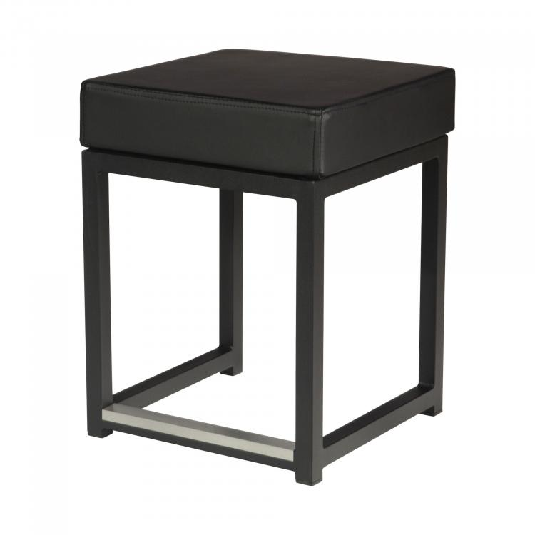 Kubo Cube - Black - Faux-leather Black