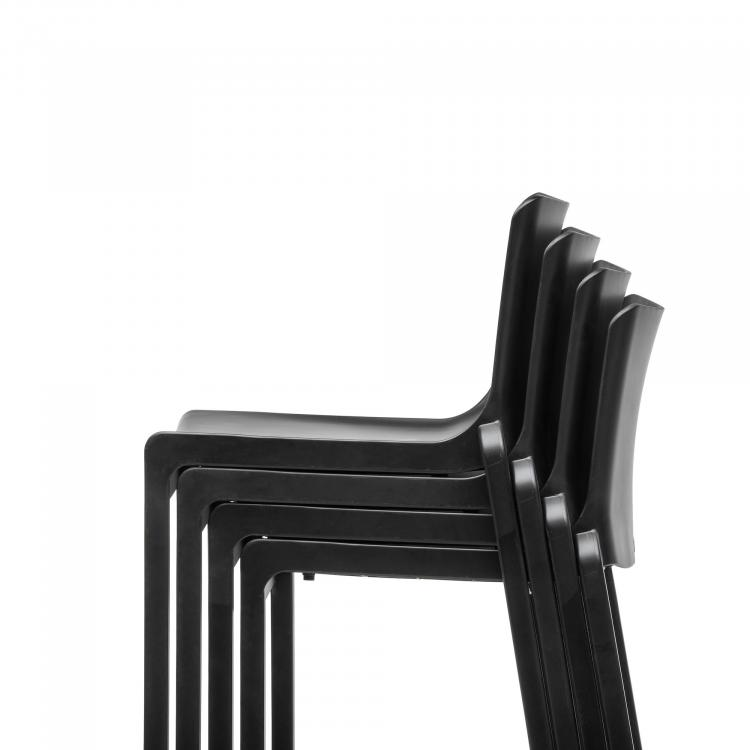 Barstool - Kasar Bar - Black - Stacked - Detail