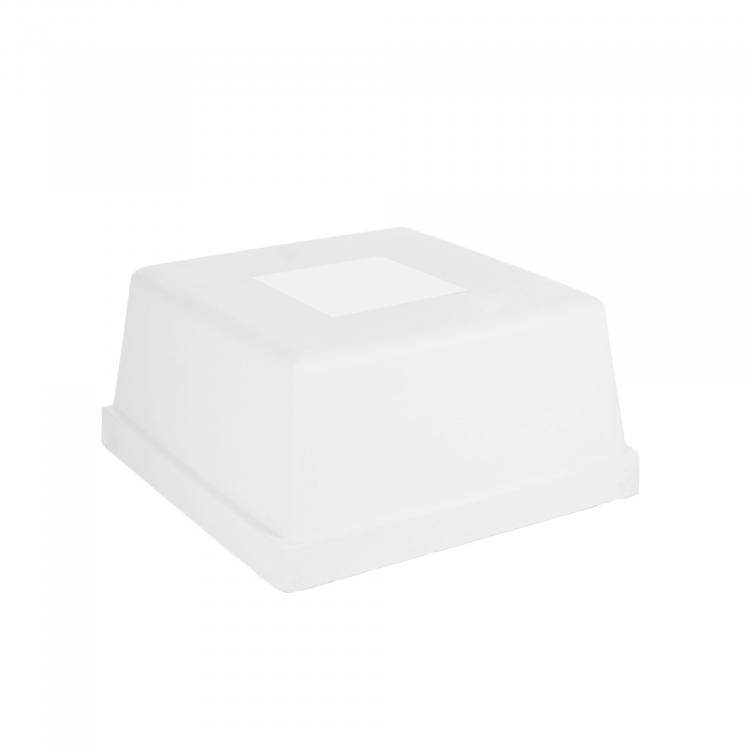 Laze Lounge Ottoman - White