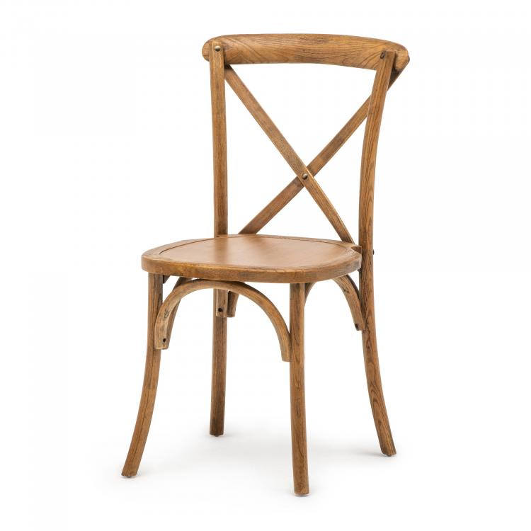 Stack Chair - Crossback - Elm Wood