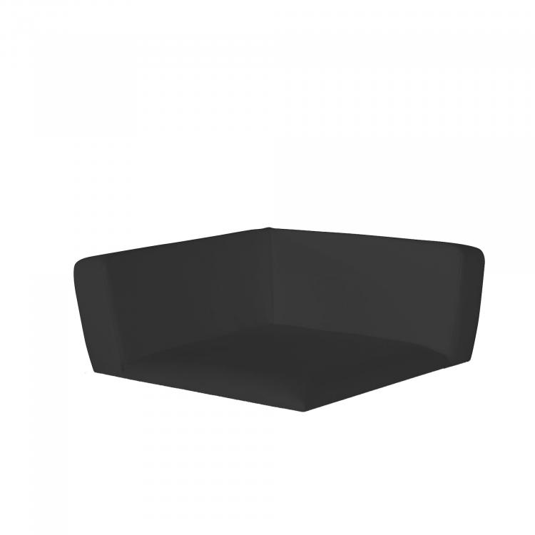 Conic Corner Seat XL, linen look Black